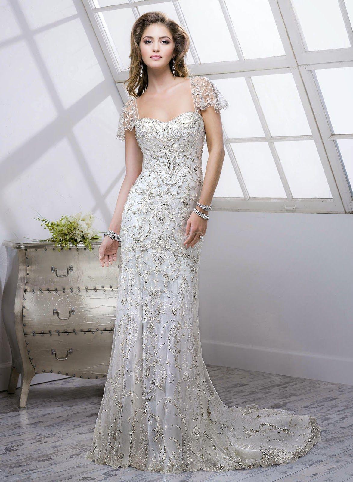 Vestidos de novia de estilo Gran Gatsby, ¡fan por lo vintage ...