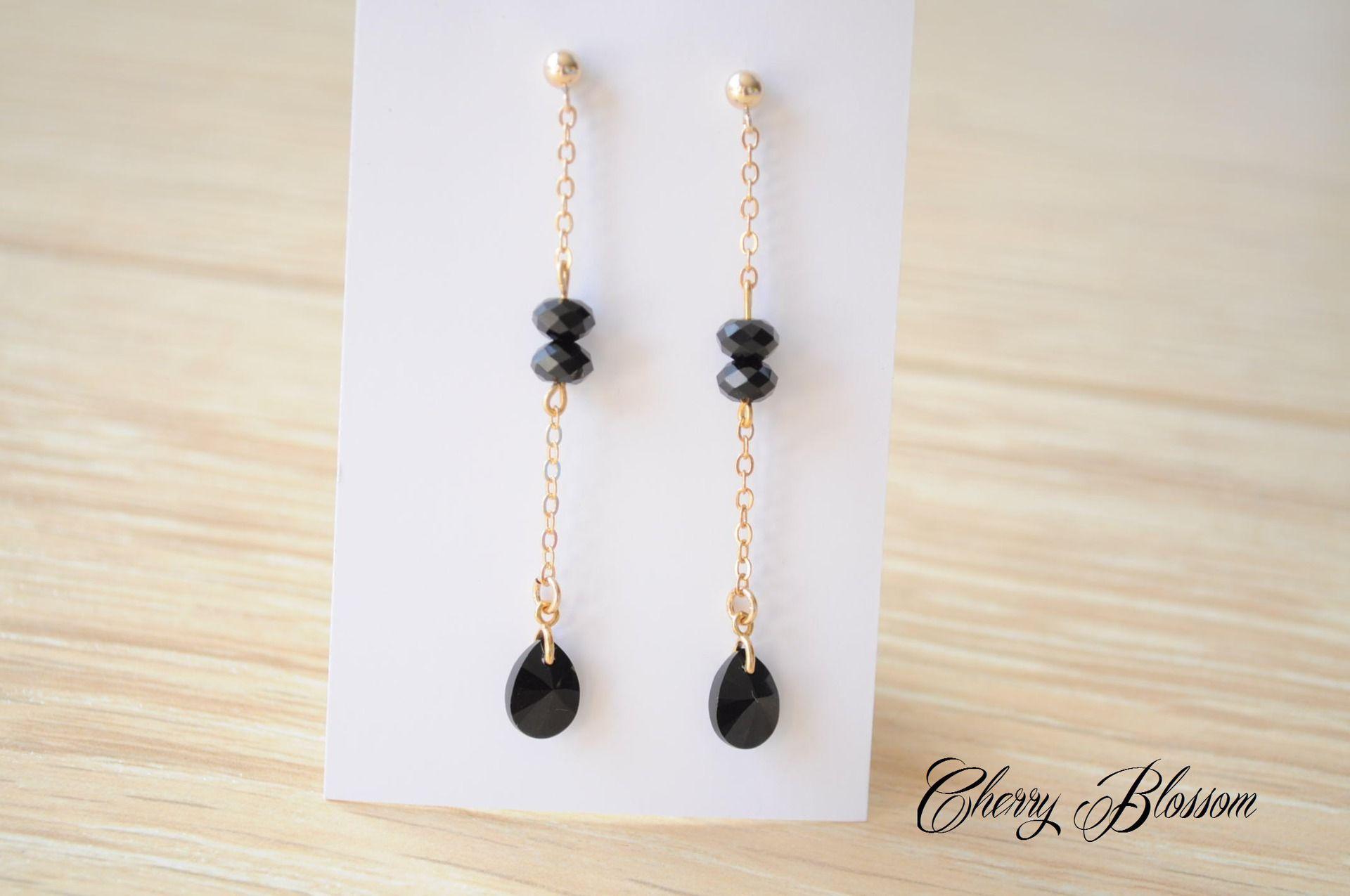 Boucles d'oreilles fines et élégantes en Or Gold Filled 14k et cristaux…