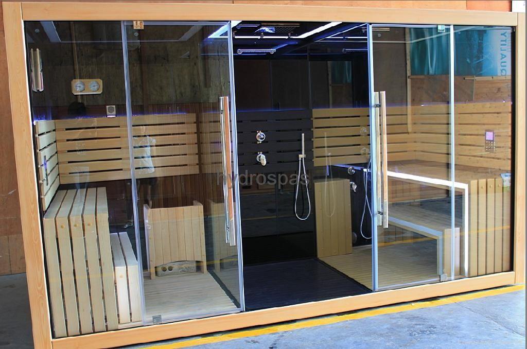 Shower Room, Steam Room, Sauna Combo