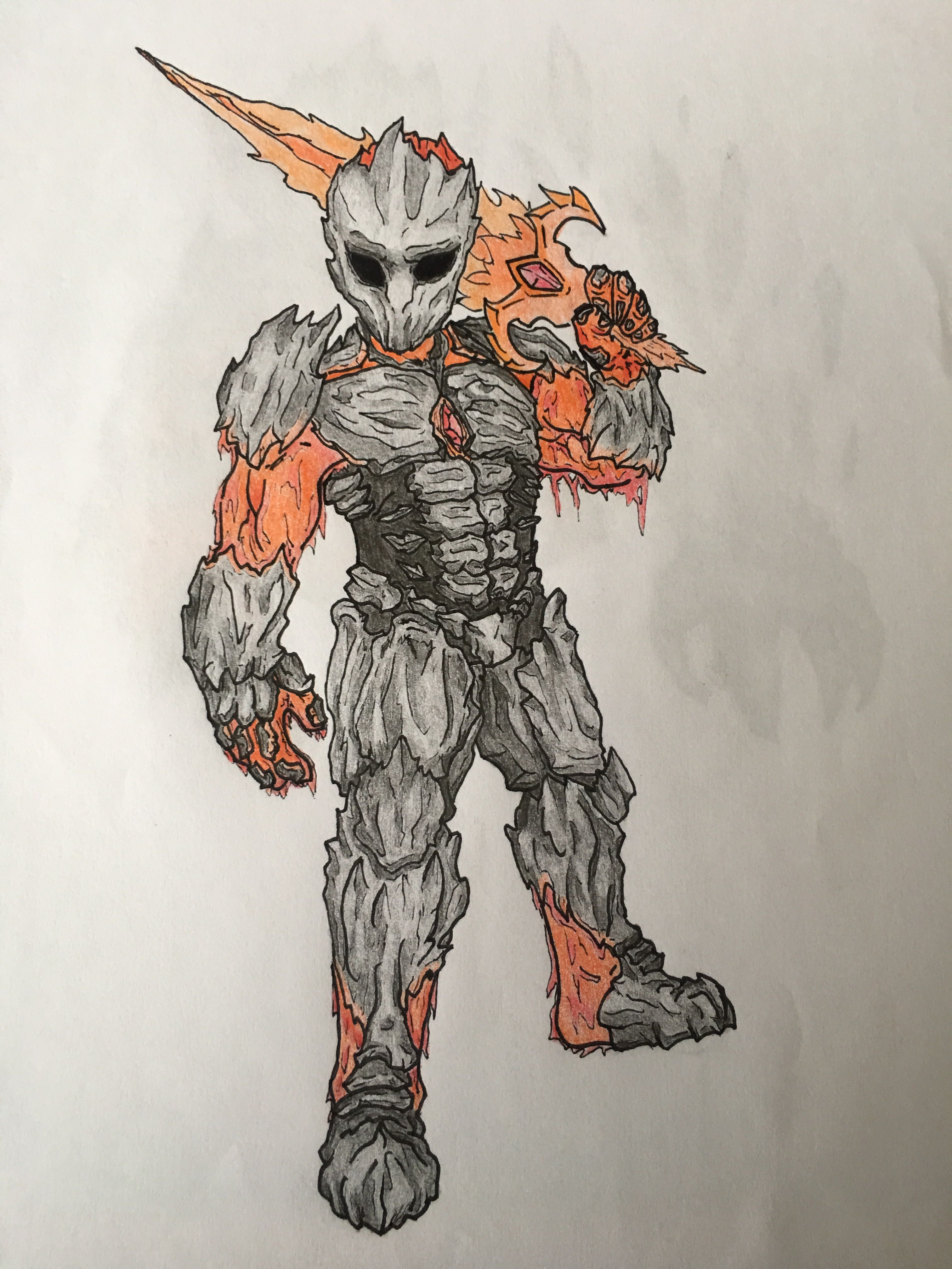 The Lava Armor From Terraria Terraria Memes My Drawings Art Drawings Simple