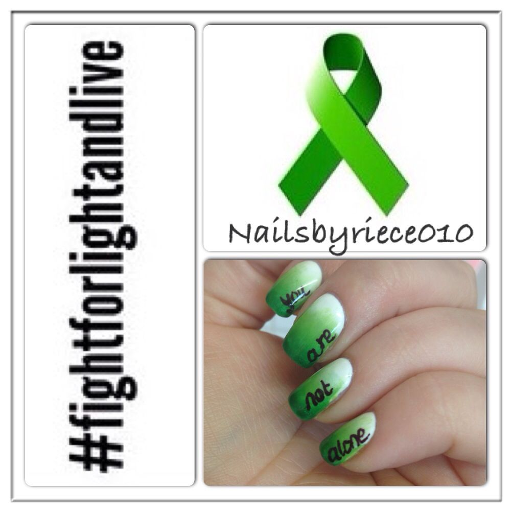 Green in support of Depression Awareness | Nails | Pinterest ...