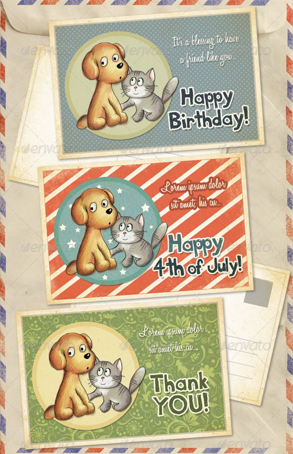 Birthday, 4th of July and Thank You Greeting Cards Greeting card - printable greeting card templates
