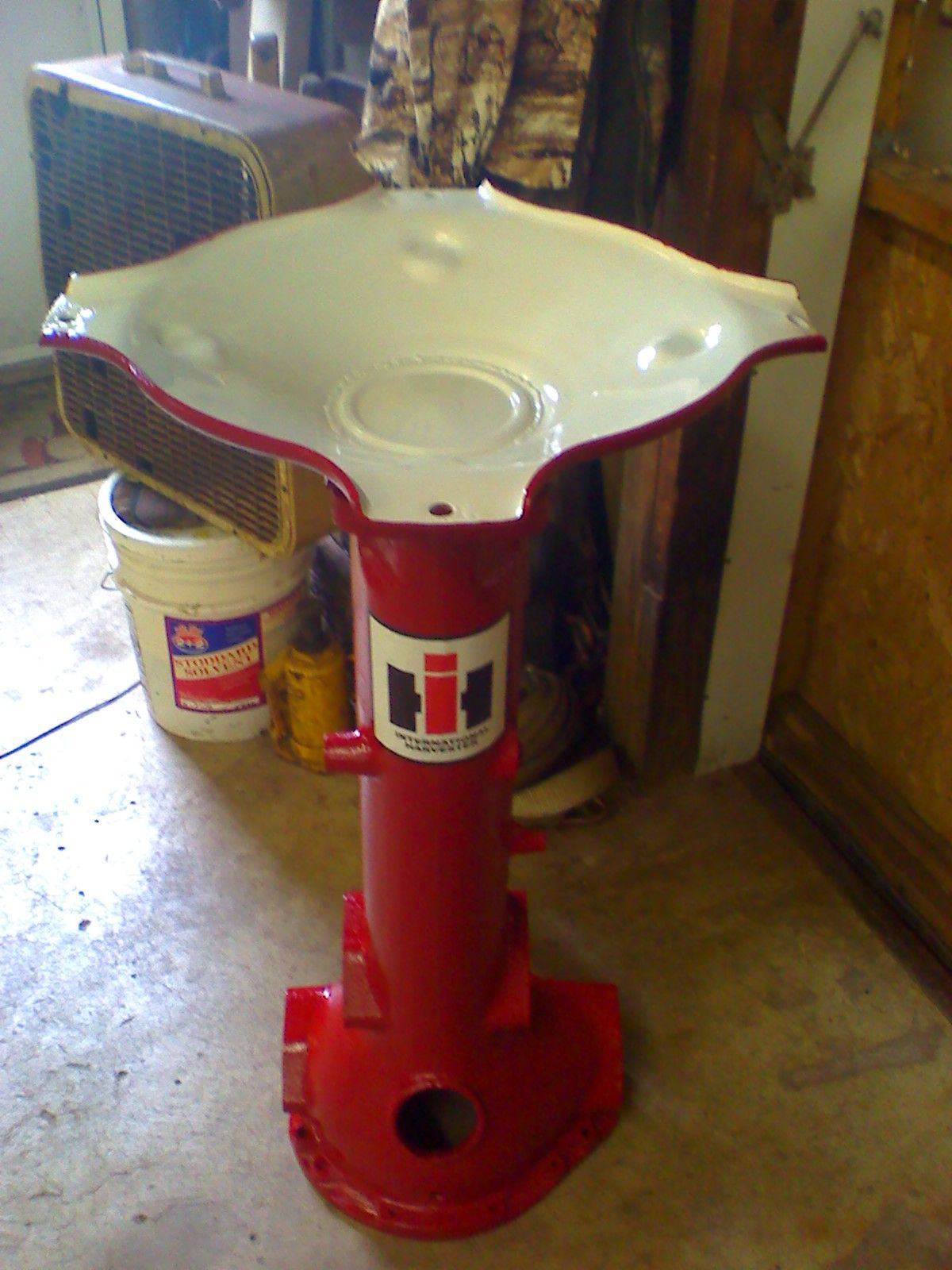 Farmall tractor parts upcycled into a birdbath (AFTER) by ... on