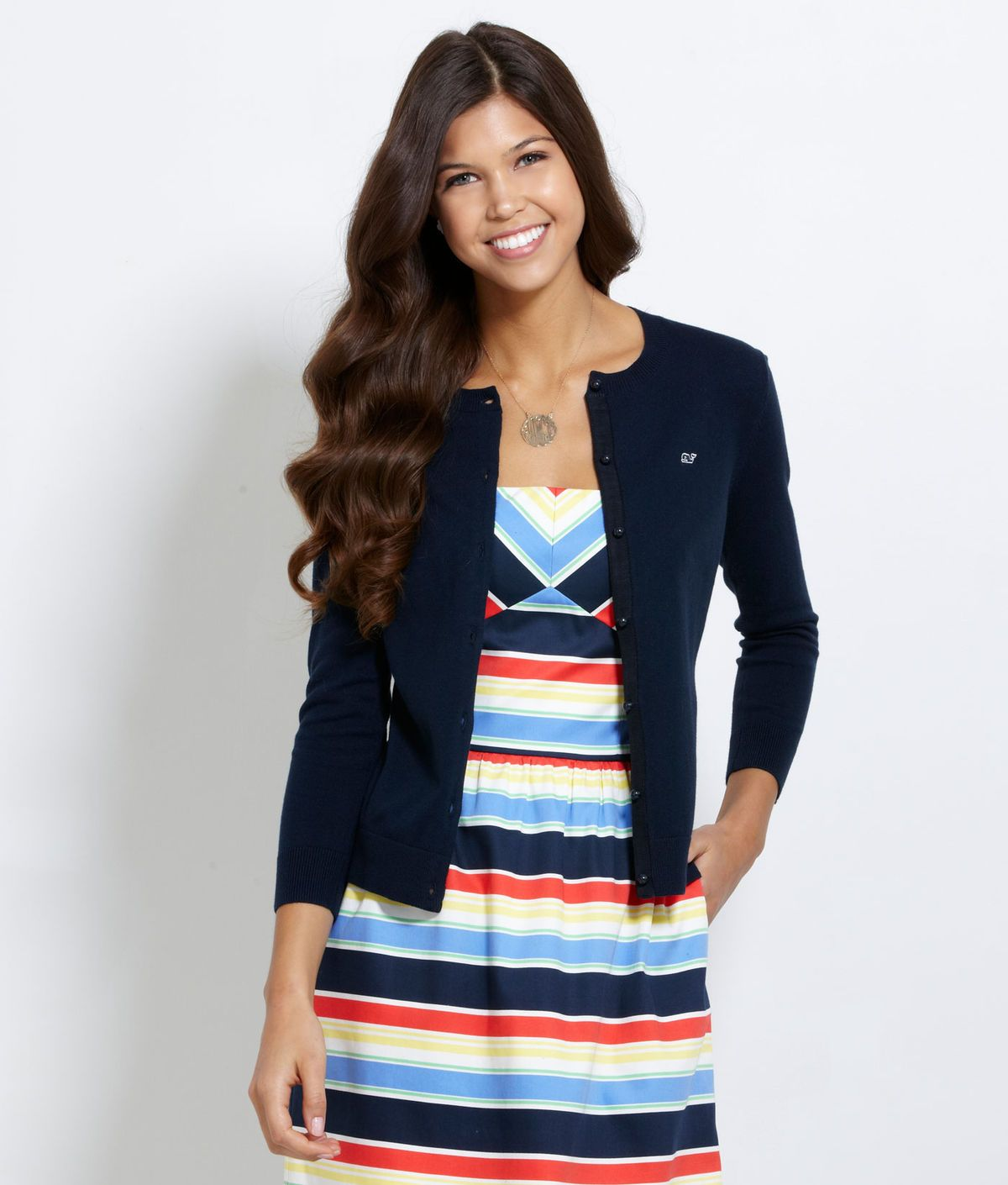 Vineyard Vines Casey Cardigan in Vineyard Navy | Hamptons Summer ...