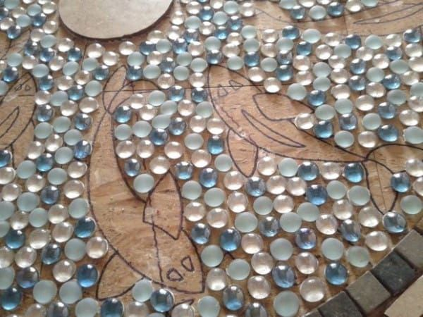Pebble Mosaic Tile Floor