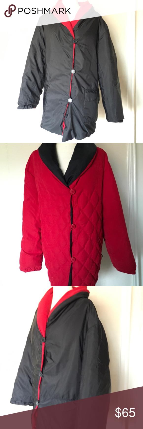 Centigrade Red Black Reversible Puffer Quilt Coat Quilted Coat Black And Red Puffer Coat [ 1740 x 580 Pixel ]