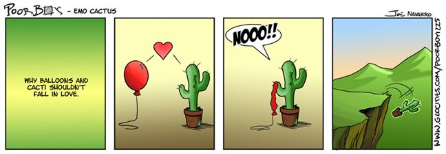 The Plight Of Cactus Love By Poorboy Comics Cactus And