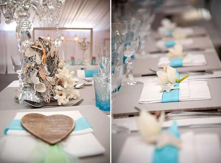 Ocean Wedding Decoration Ideas : Beach wedding decor details table