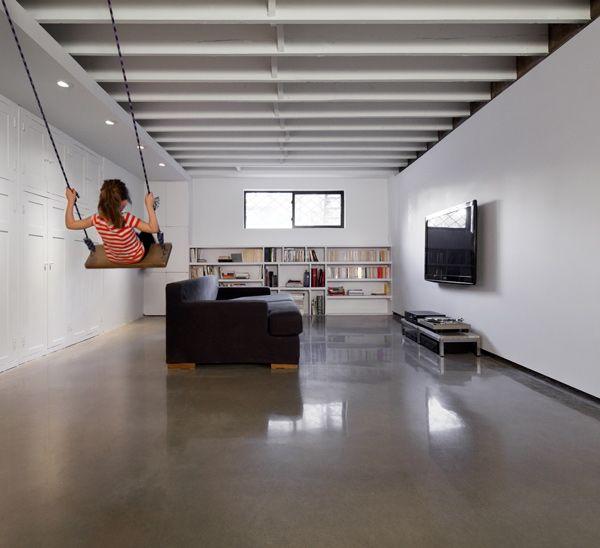 plancher de b ton gris naturel poli et cir atelierb pk6 mat riaux pinterest concrete. Black Bedroom Furniture Sets. Home Design Ideas