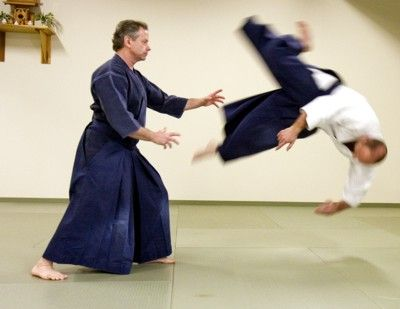 Aikijutsu is the only martial art which makes getting beat