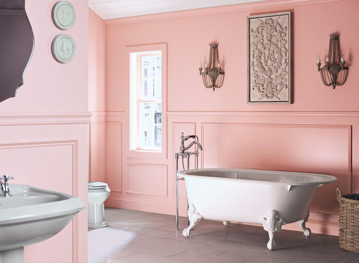 Southern Charm Bathroom! Wall Color: Fruit Shake - Ceiling ...