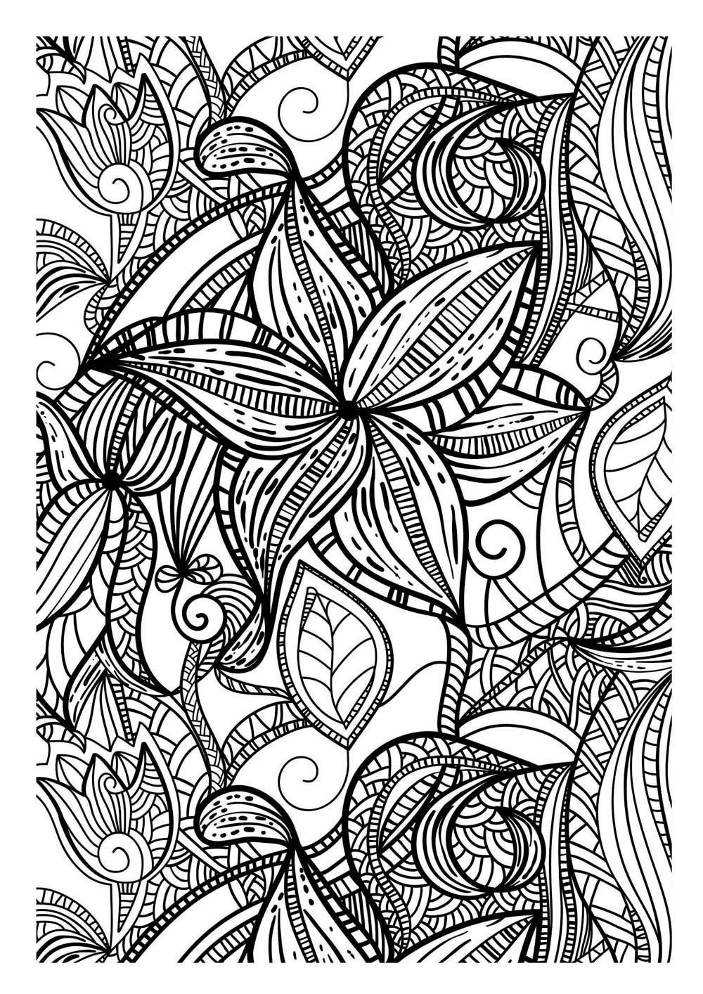 Art thérapie 100 coloriages anti stress Amazon Collectif Livres kleurplaten coloring pages Pinterest