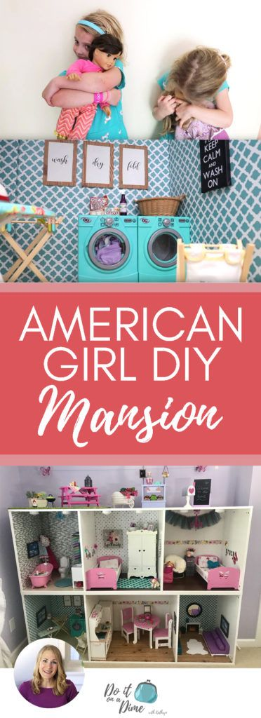 HUGE DOLLAR TREE & IKEA BUILD � American Girl Doll House DIY & Tour!