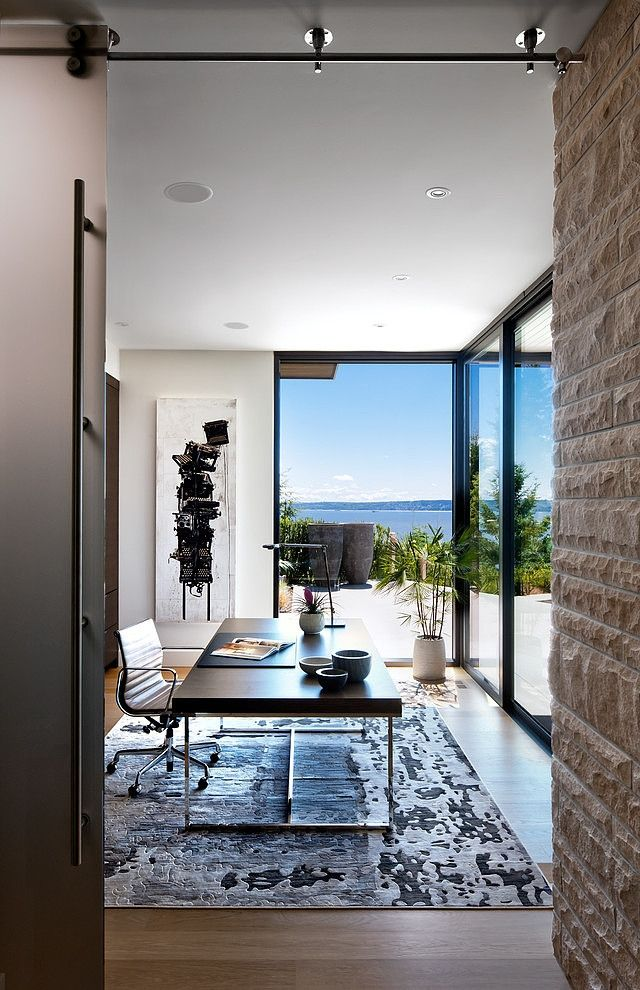 Captivating Windows In The Office, Lots Of Natural Lighting. Defined By A Perfect  Indoor Outdoor Experience: Burkehill Residence [Video]
