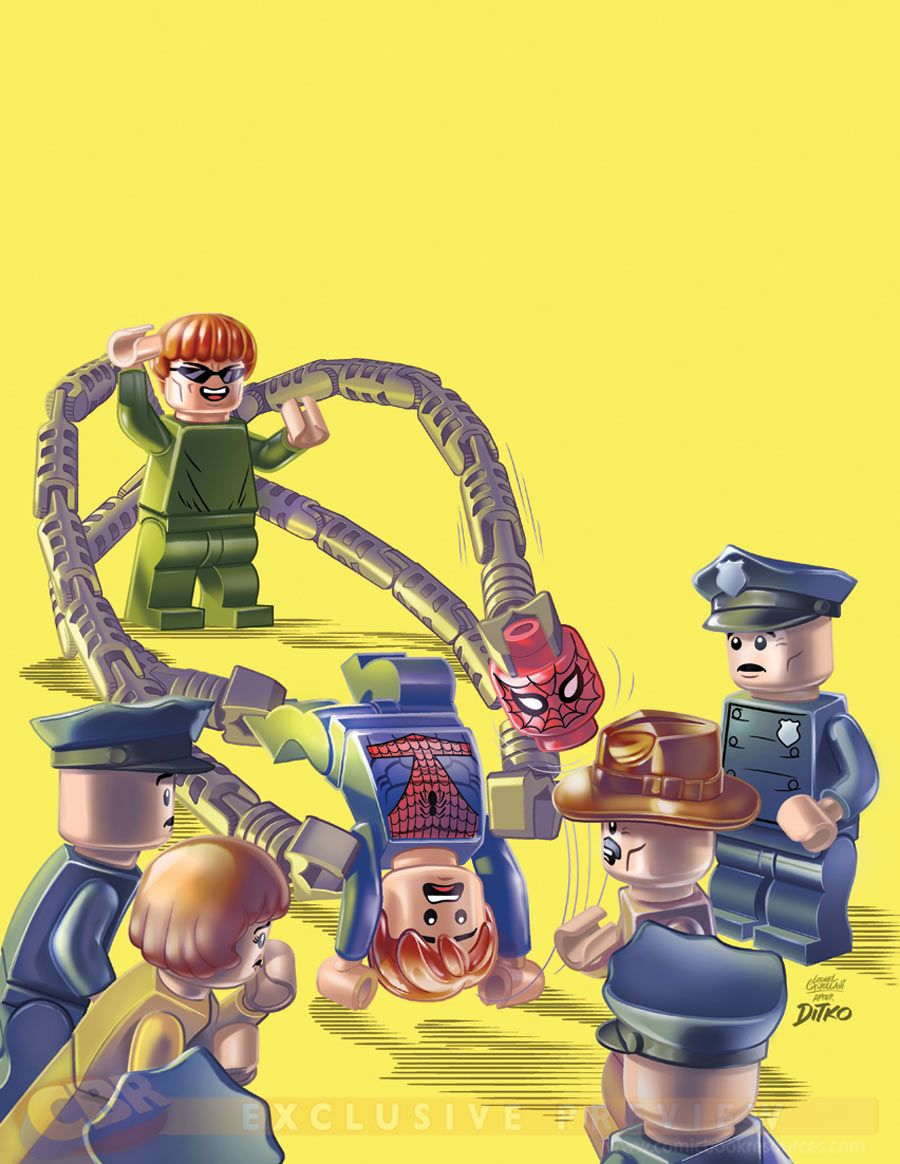 #Avengers #Fan #Art. (Mighty Avengers #1 LEGO VARIANT Cover) By: Steve Ditko & Leonel Castellani. ÅWESOMENESS!!!™ ÅÅÅ+