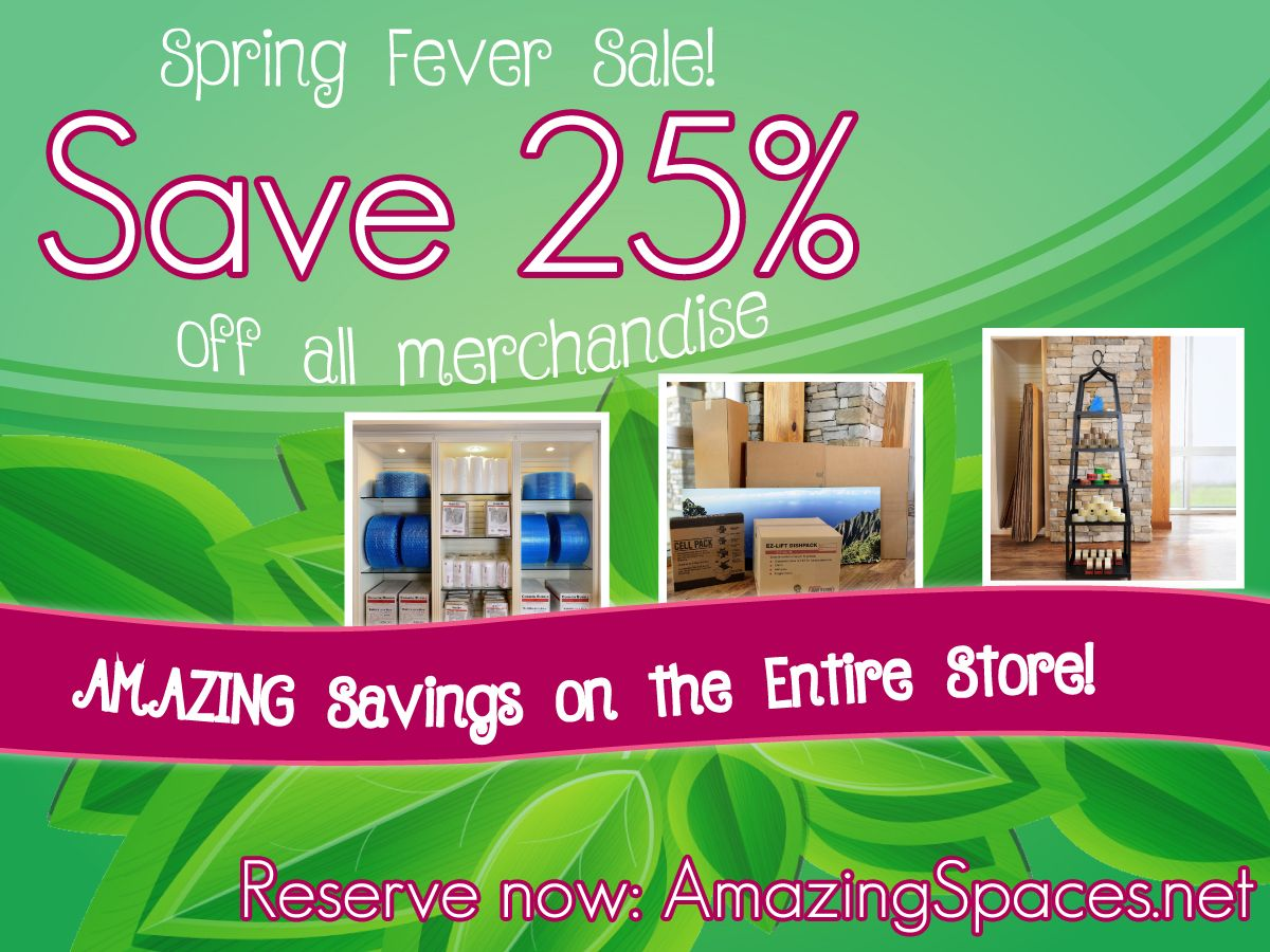 Spring Into An Organized Home Save On Moving Supplies At All