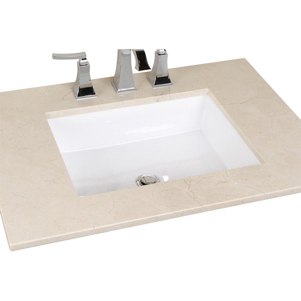 Cantrio Koncepts Ps 101 Undermount Ceramic Sink Ceramic Sink Sink Renovation Hardware