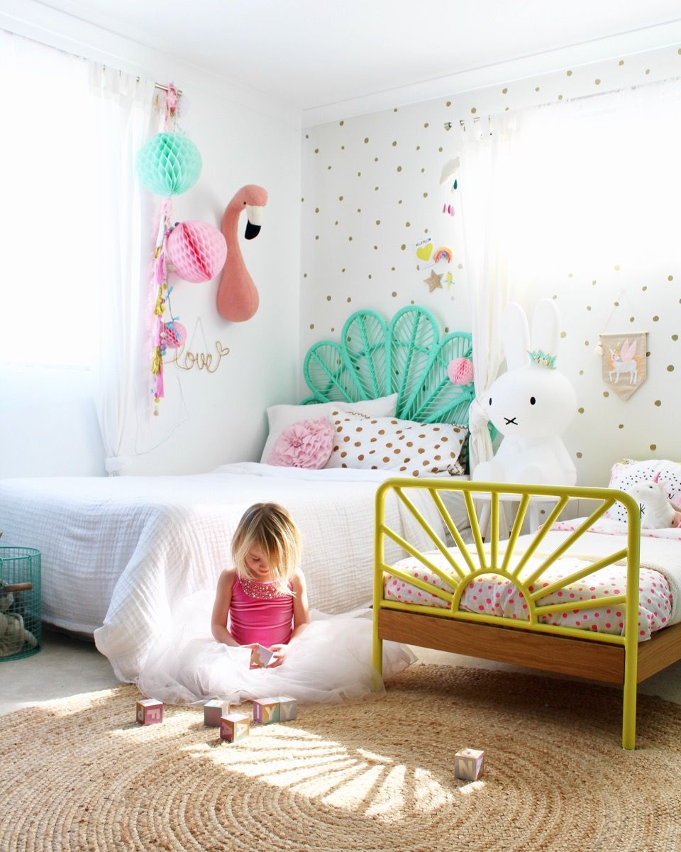 Designs For Girls Rooms: My Girls Shared Bedroom Tour