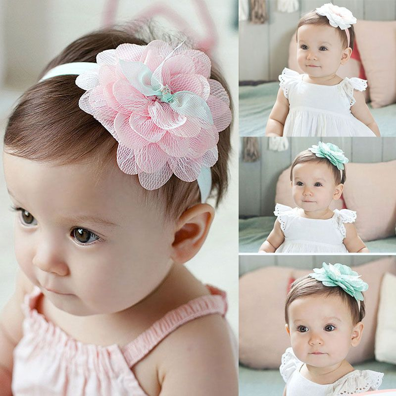1.0AUD - Cute Baby Kids Girl Toddler Lace Flower Headband Hair Band  Headwear Accessories  ebay  Home   Garden e3a7f55e8da