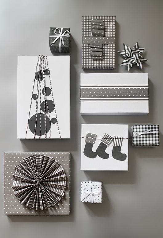Christmas gift wrapping DIY Spelling Wrap Room #2 Pinterest