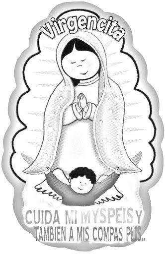 Virgencita De Guadalupe Para Colorear Iconos Cristianos Virgen
