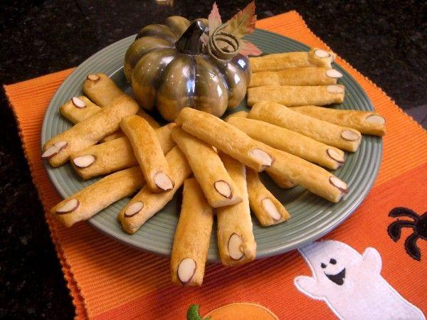 fun halloween party food recipes prosciutto ham head pillsbury spooky finger breadsticks - Fun Halloween Party Snacks