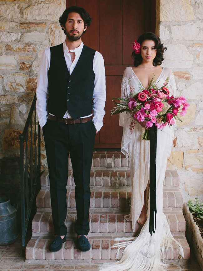 Frida Kahlo Wedding Inspiration With A Fuchsia Cognac Color Palette