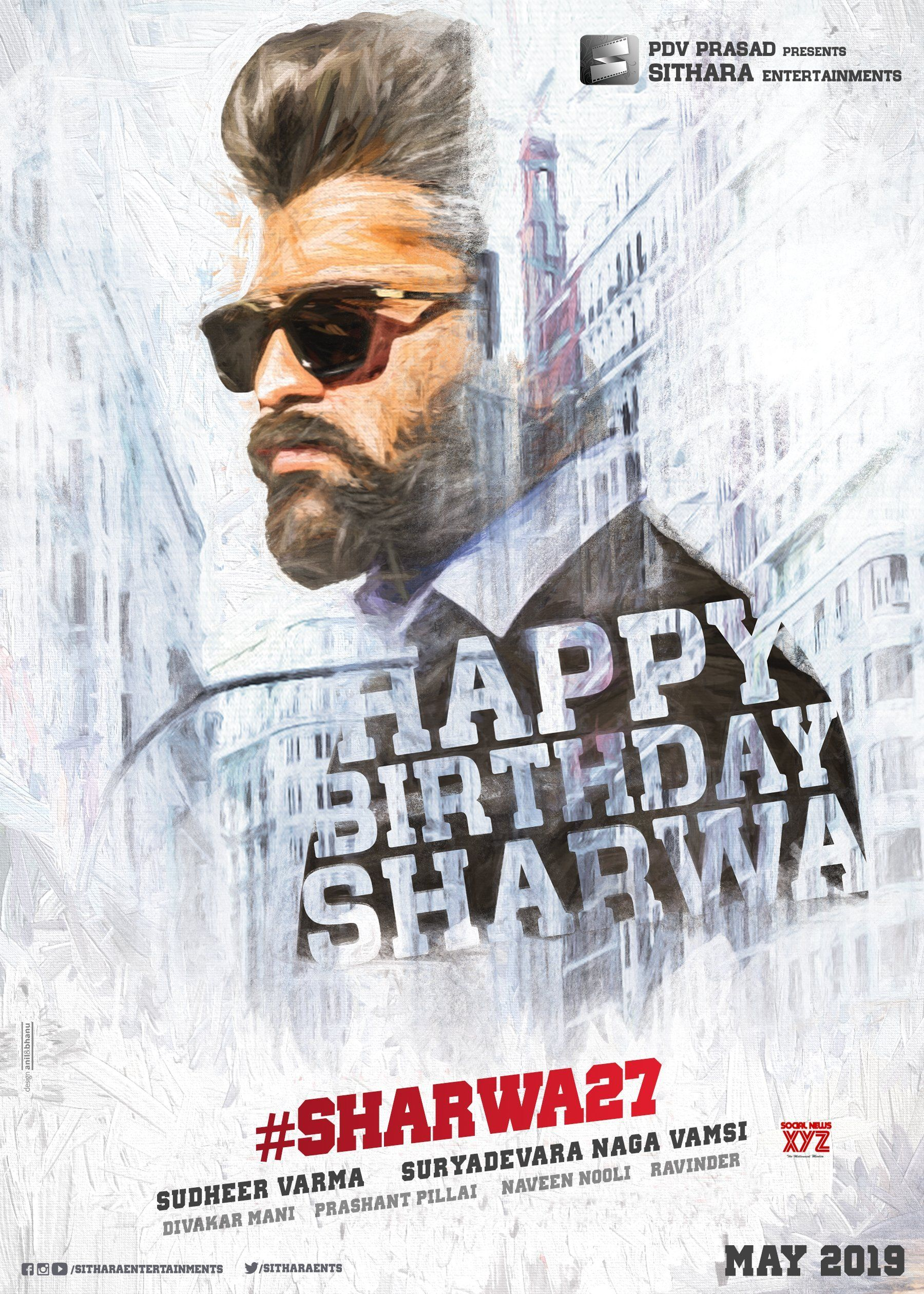 Sharwanand Happy Birthday HD Poster From Sharwa27 Team | Social News