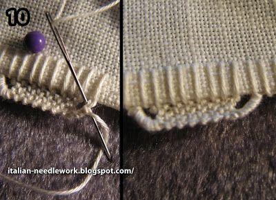 Punto Ricciolino - Umbrian Embroidery