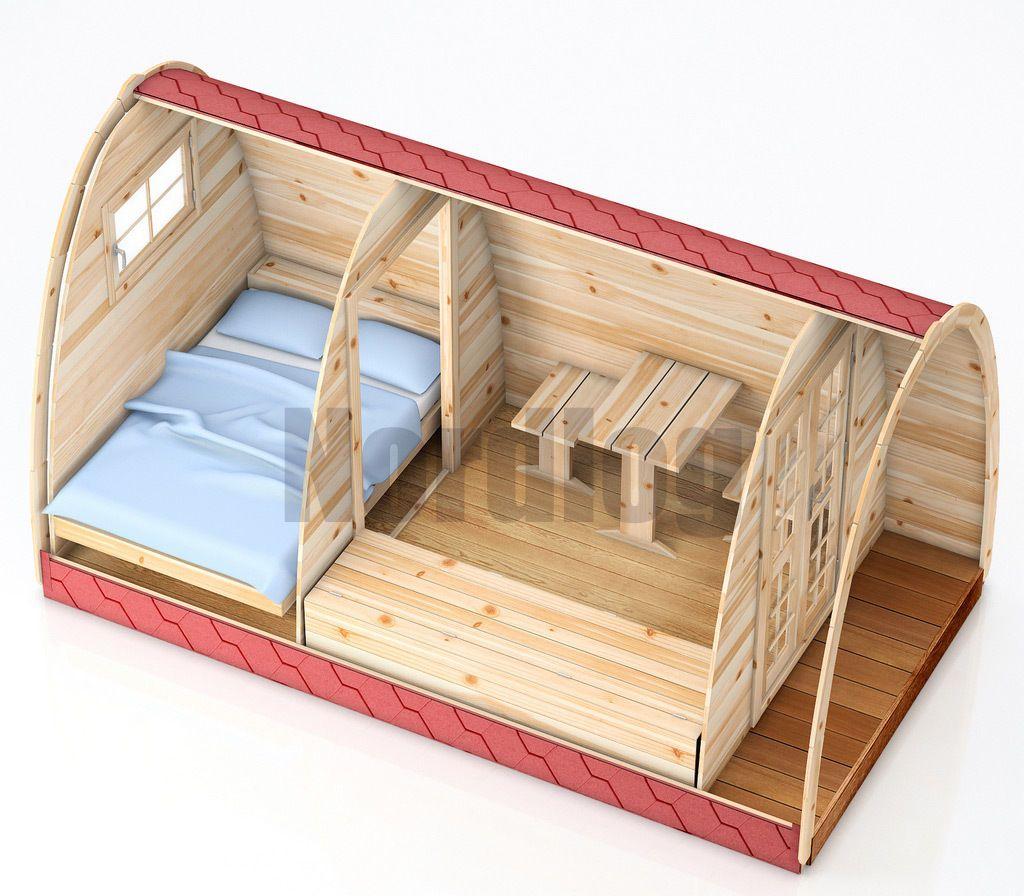 NordLog Camping Pod 2,4 x 4,8m Haus Campinghaus Ferienhaus ...