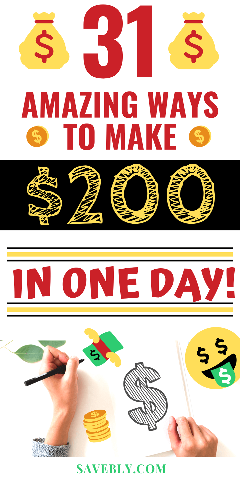 How To Make 200 Dollars In One Day! [31 WAYS IN 2019] | Make Money