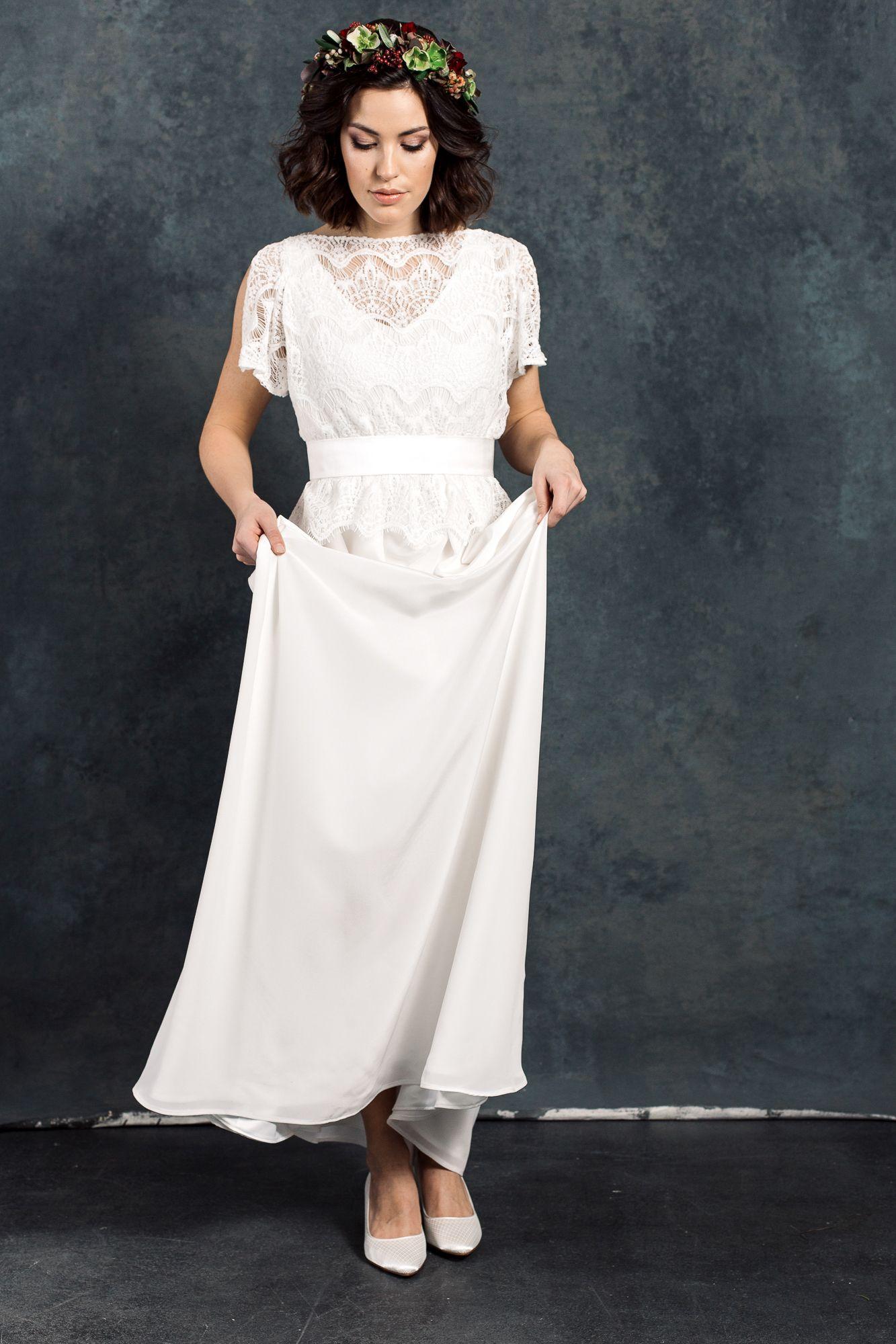 Labude Brautkleid Viola - Bridal Dress Boho- Vintagestil Lace Top ...