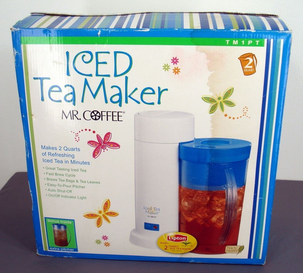 Mr Coffee Iced Tea Maker 2 Quart Ice Coffee Auto Shutoff