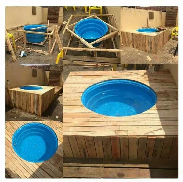 Pin em piscina con palets