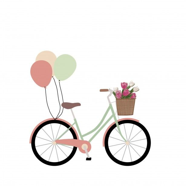 bikes with flowers clip art bike bicycle with balloons clipart jpg rh pinterest nz bicycling clip art bicycle clip art free black white