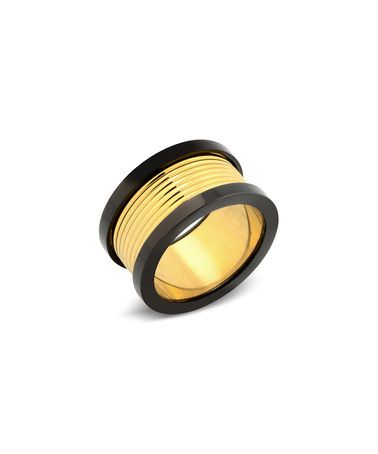 This Gold & Black Edged Ring by Elite Force is perfect! #zulilyfinds