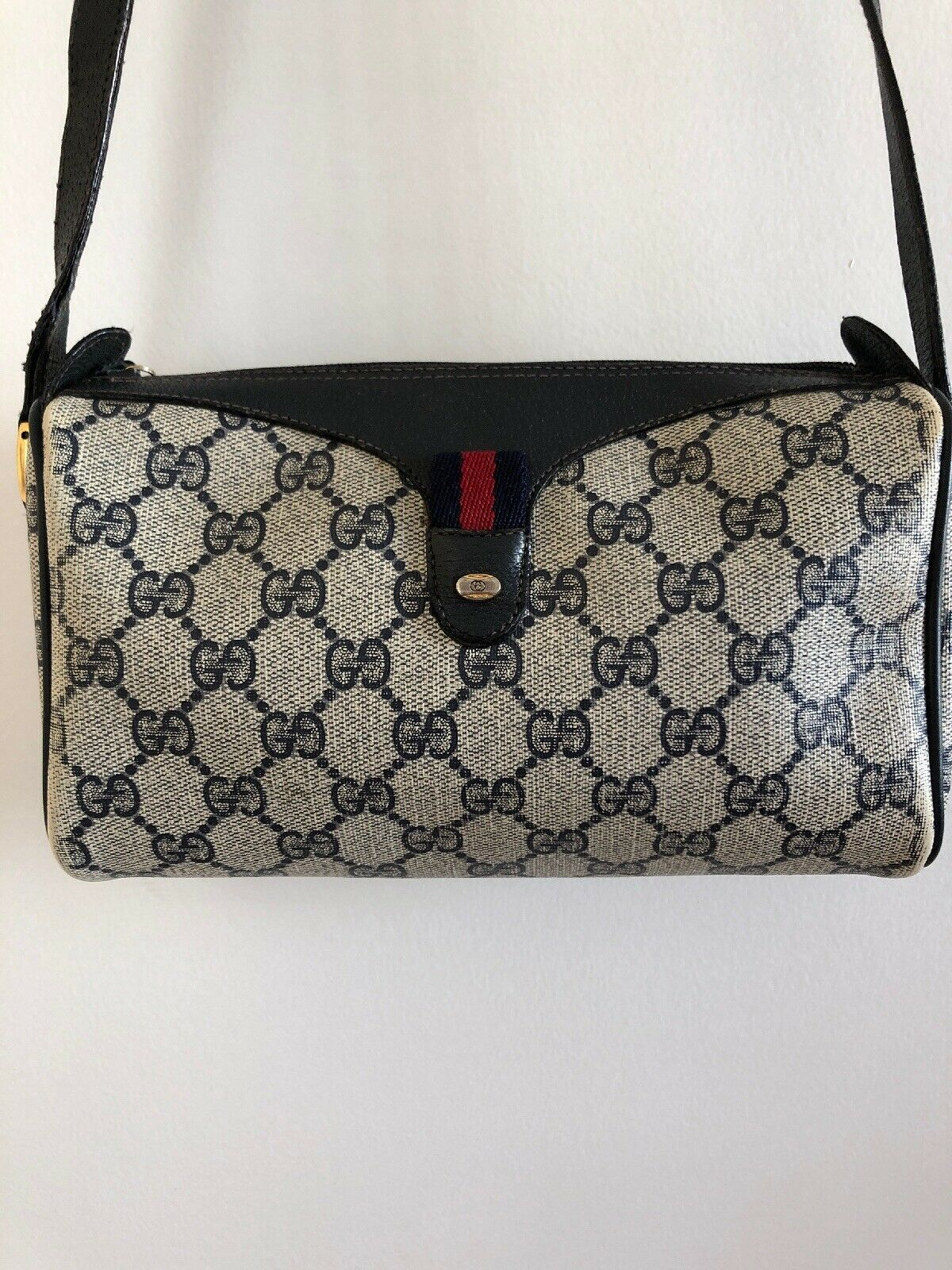 c29a196bc32ced #FORSALE Auth Vintage GUCCI Accessory Collection Pochette Shoulder/Crossbody  Bag Blue - $78