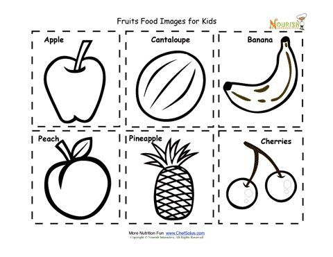 fruit food cards for children food images for kids to cut out and create their nutrition crafts for kidskids coloring pagesfood