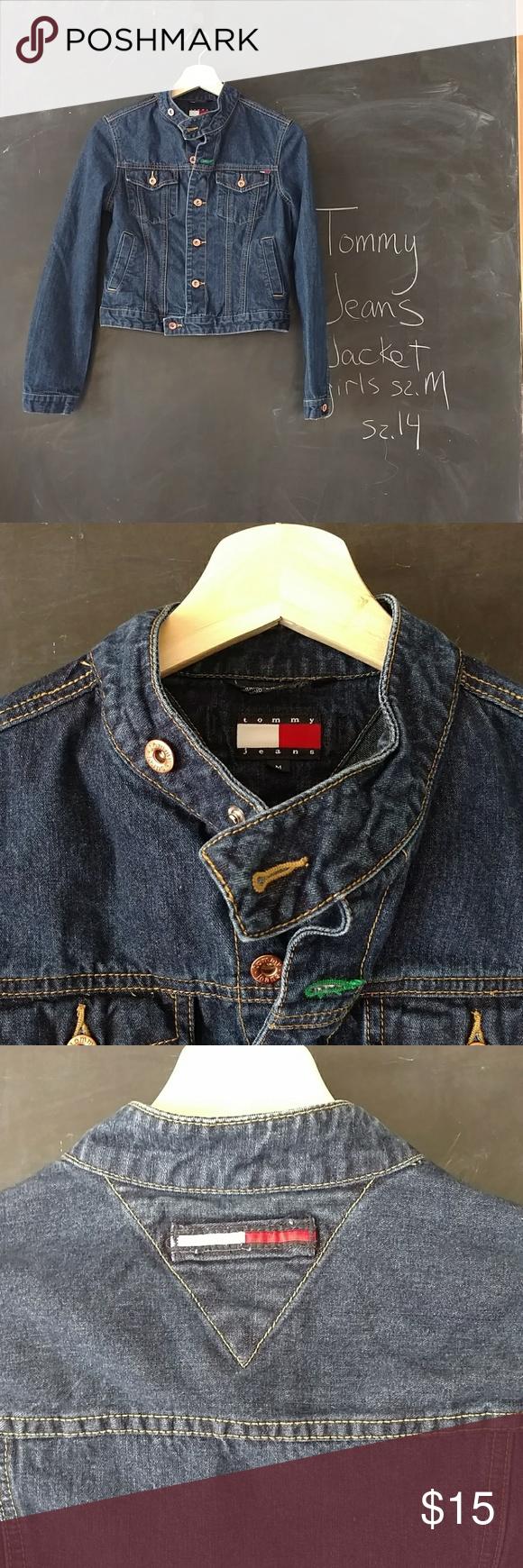 Tommy Jeans Girls Jean Jacket 2002 Sz M Jean Jacket For Girls Jeans Material Girls Jeans [ 1740 x 580 Pixel ]