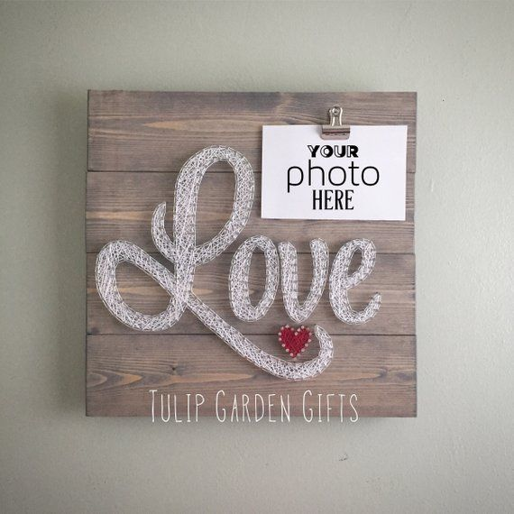Love String Art Photo Display, String Art Photo, String Art Photo Clip, Love Photo Clip, String Art