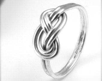 Sterling Silver Celtic Knot Ring Endless Knot Figure 8 Infinity