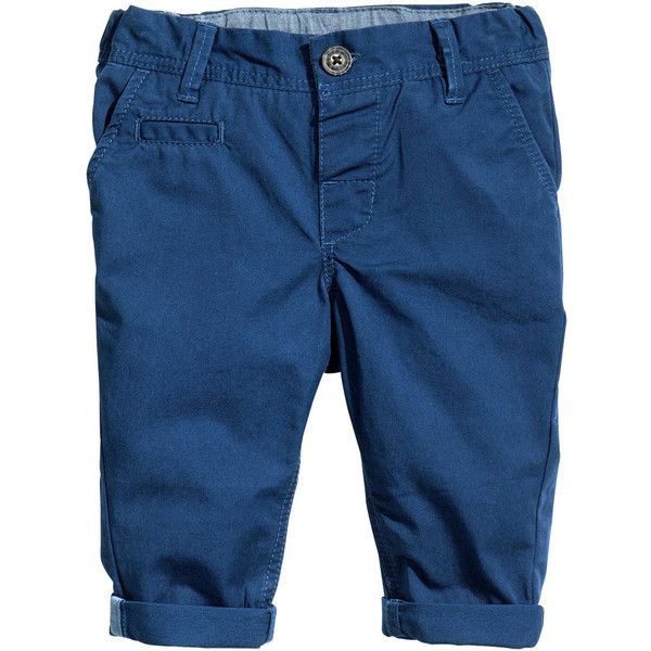 178e5da8c H&M Chinos $6 ($6) ❤ liked on Polyvore featuring pants, baby boy, boy,  baby, kids, baby boy clothes, h&m, cotton chino pants, blue pants and  cotton ...