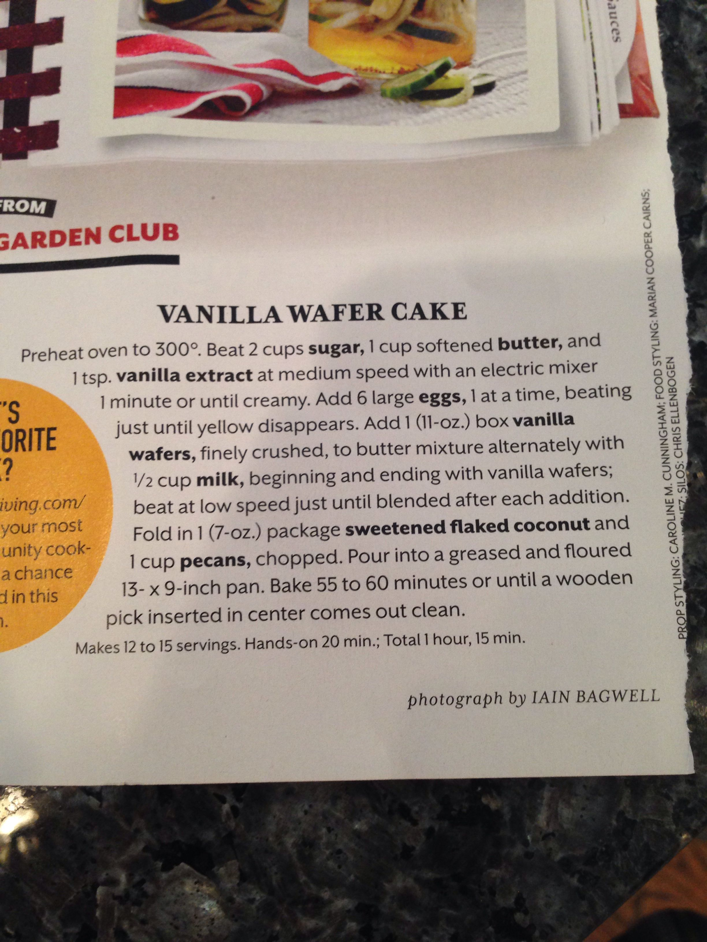 Vanilla Wafer Cake From Southern Living I Saw This Too And It Looks Fantastic Vanilla Wafer Cake Vanilla Wafers Sweets Cake
