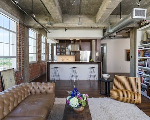 Industrial loft industrial loft apartment interior for Industrial design studio