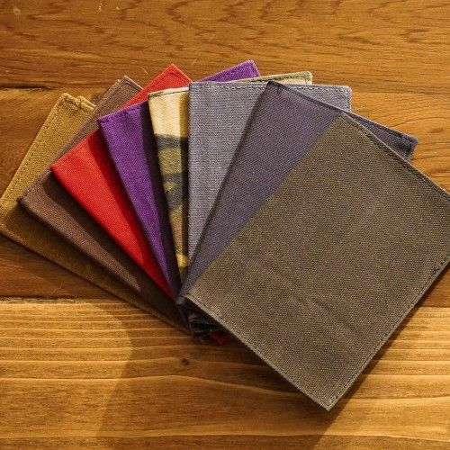 Waxed Canvas Notebook Cover  Wax Note And Patches