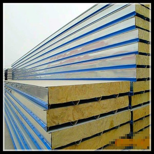 100mm Roof Rock Wool Sandwich Panels From China