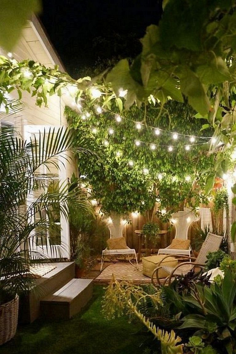 23 Marvelous Outdoor Garden Fairy Lighting Decorating Ideas