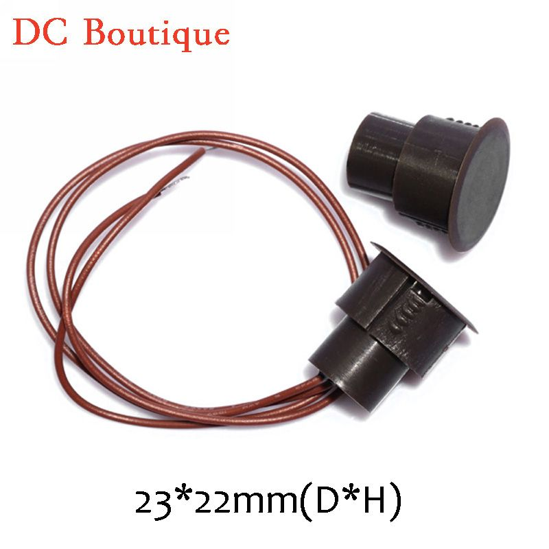 10 pairs) D*H 23*22mm Brown Color Wired Magnetic Switch Door Open ...