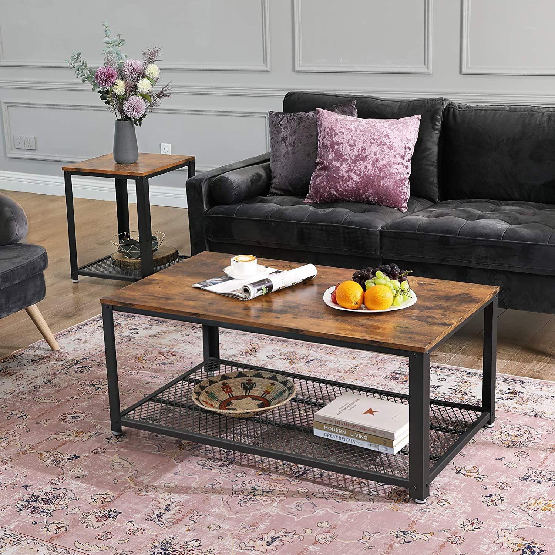 Vasagle Industrial Coffee Table Ashley Furniture Homestore In 2021 Rustic Industrial Coffee Table Industrial Chic Coffee Table Coffee Table Wood [ 1500 x 1500 Pixel ]