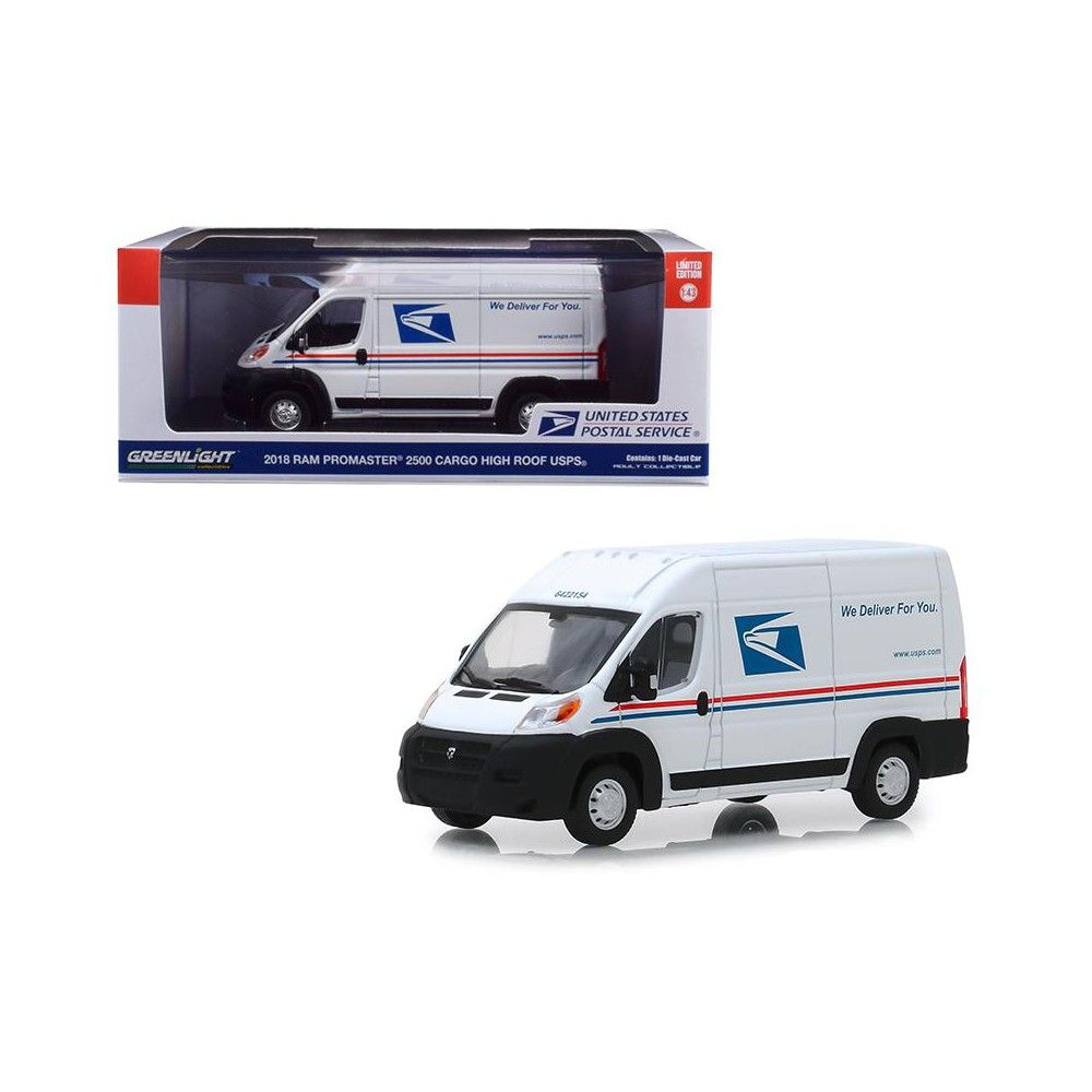 1:43 Greenlight Dodge Ram Promaster delivery van 2018 white